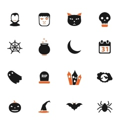 Halloween simply icons vector