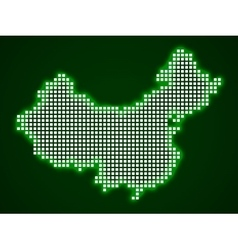 Pixel map of china vector