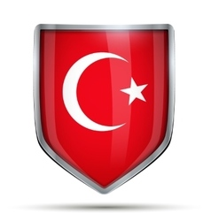 Shield with flag turkey vector