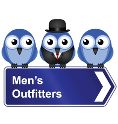 Mens outfitters vector