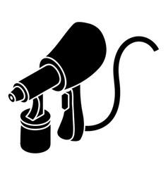 Air paint sprayer icon simple style vector