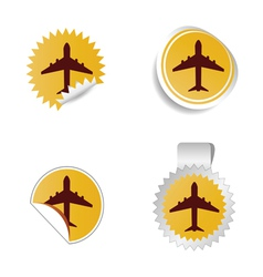 airplane sticker vector image vector image
