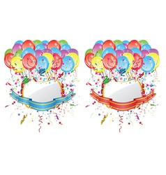 Balloons with Banners3 vector image vector image