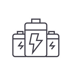 batteryenergy power line icon sign vector image