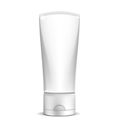 Blank white cream tube or cosmetic bottle vector
