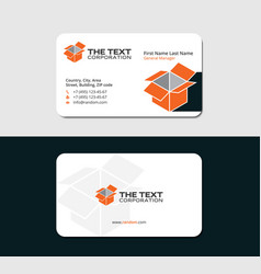 Business card for the manufacturer vector