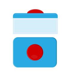 Capsule for dishwasher safe washing tablets vector