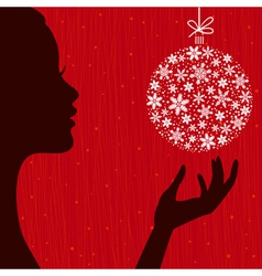 Christmas Eve background vector image