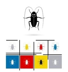Cockroach icon vector