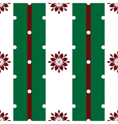 Floral snowflakes on the white stripes christmas vector