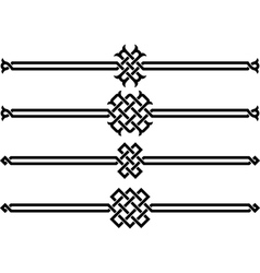 Four wicker ornaments vector