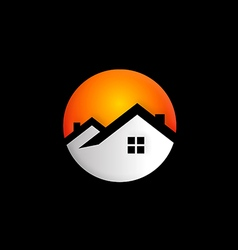 Home realty round logo vector