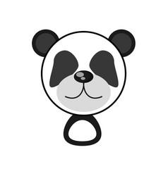 kawaii face panda animal toy vector image