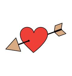 love cupid hearts pierced arrow romantic passion vector image