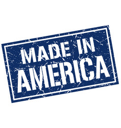 Made in america stamp vector