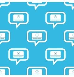 Mediaplayer message pattern vector