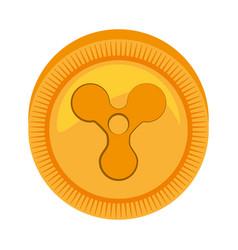 Quarkcoin money golden icon vector