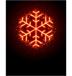 red snowflake vector image vector image