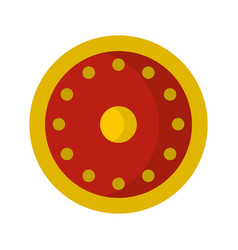 Round military shield icon flat style vector