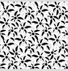 Seamless pattern of black palm trees vector