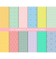 Set seamless retro patterns vector image vector image