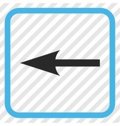 Sharp arrow left icon in a frame vector