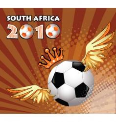 soccer ball winner vector image
