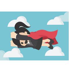 Super business woman business concept cartoon vector