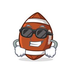 super cool american football character cartoon vector image vector image