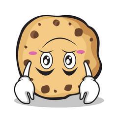 Upside down sweet cookies character cartoon vector