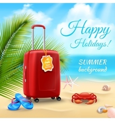 Vacation Background Realistic vector image