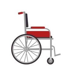 Wheelchair medical equipment vector