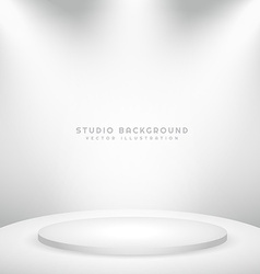 white studio background with podium vector image vector image