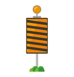 Roadblock traffic light warning with grass vector