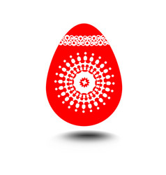easter egg isolated decoration on white vector image