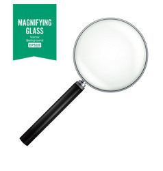 Realistic magnifying glass  isolated on vector