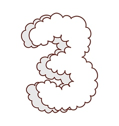 A shape of a cloud number vector