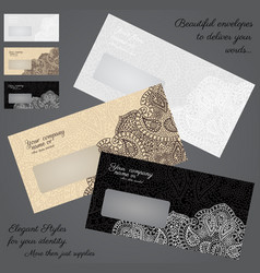 Elegant envelopes concept set vector