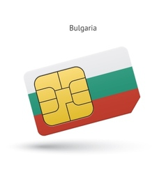Bulgaria mobile phone sim card with flag vector