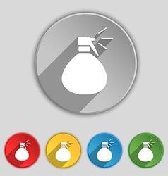 Plastic spray of water icon sign symbol on five vector