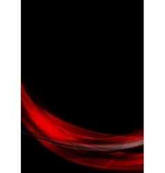 Abstract smooth waves on black background vector