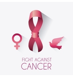 Fight against breast cancer campaign vector