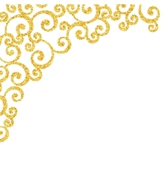 Abstract gold dust glitter swirl pattern vector