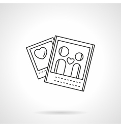 Lovers photo flat line icon vector