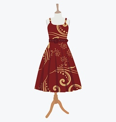 Elegant red dress vector