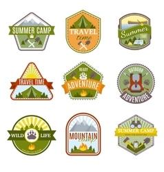 Camping Emblems Icon Set vector image