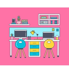 Working place pink vector