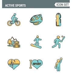 Icons line set premium quality of active sports vector