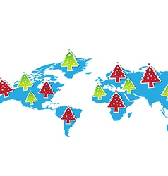 Christmas festival all the world vector