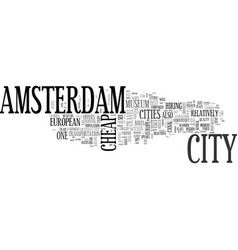Amsterdam bed and breakfast text word cloud vector